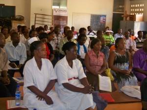 Members attending the regional meeting in Kiboga