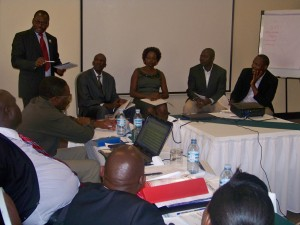A panel of judicial officers discuss a Human rights approach to the criminal justice system in Uganda.