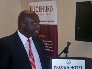 One of the facilitators - Prof. Kasimbazi