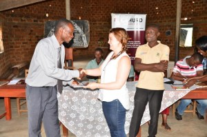 the writer receives a gift from one of the school heads.