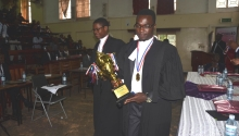 Kampala International University takes trophy for the moot competition 2015.
